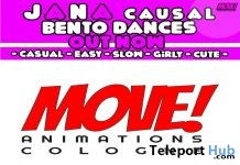 New Release: Jana Casual Bento Dance Pack by MOVE! Animations Cologne - Teleport Hub - teleporthub.com