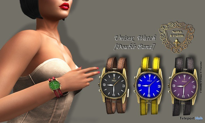 Unisex Double Band Watch 1L Promo Gift by Nala Design - Teleport Hub - teleporthub.com