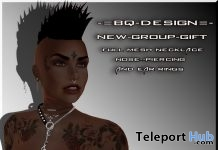 Piercing, Earring, & Necklace July 2019 Group Gift by BQ-DESIGN- Teleport Hub - teleporthub.com