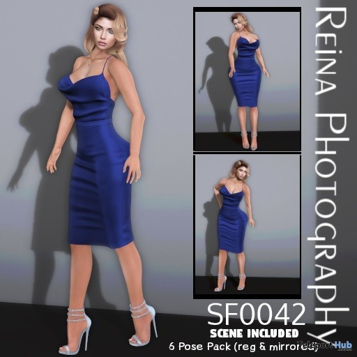 Single Female Pose Pack SF0042 July 2019 Gift by Reina Photography - Teleport Hub - teleporthub.com