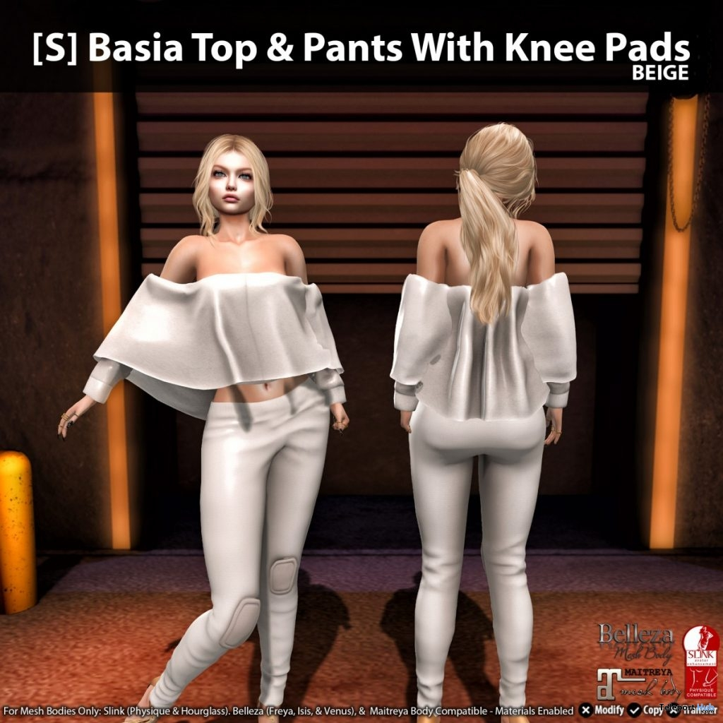 New Release: [S] Basia Top & Pants With Knee Pads by [satus Inc] - Teleport Hub - teleporthub.com