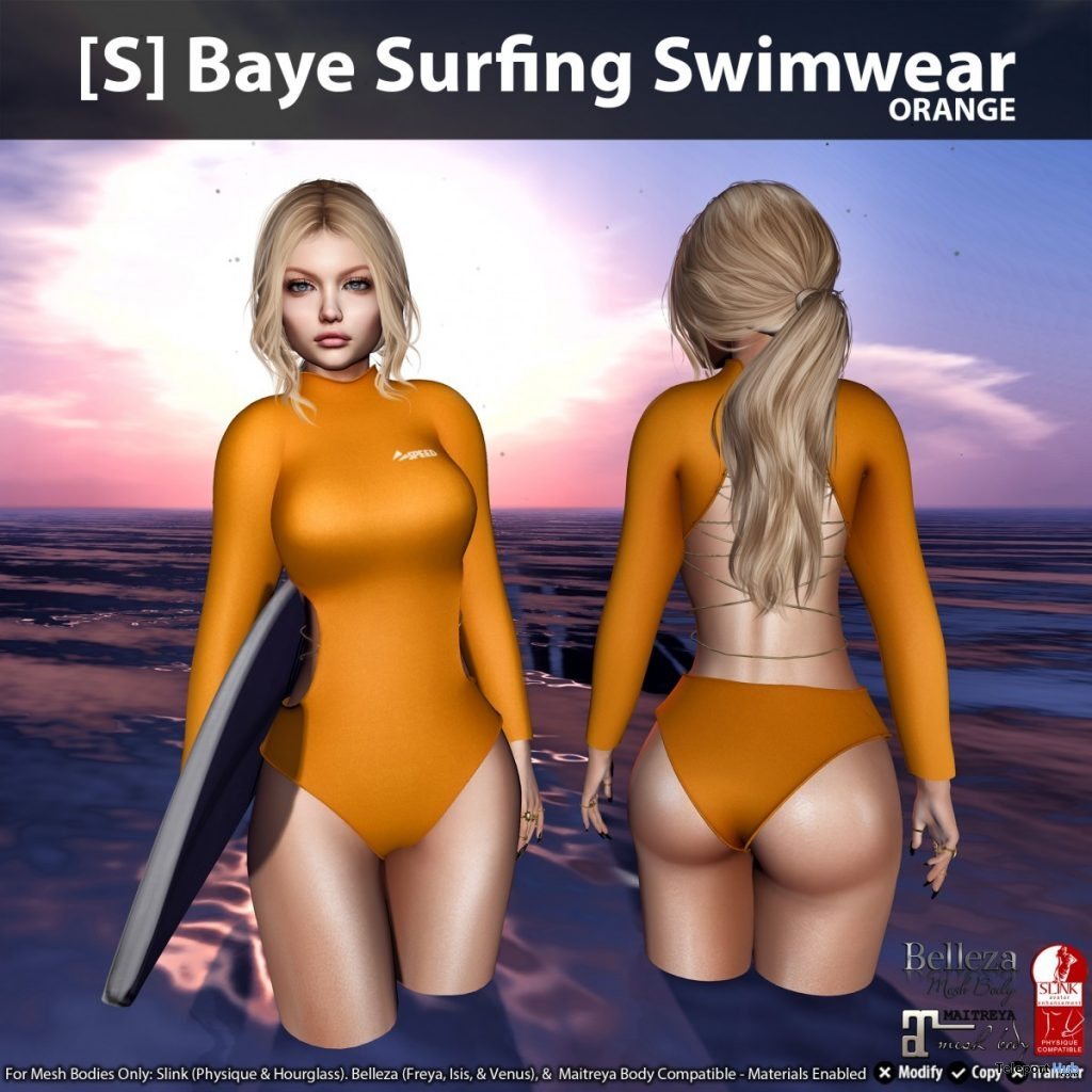 New Release: [S] Baye Surfing Swimwear by [satus Inc] - Teleport Hub - teleporthub.com