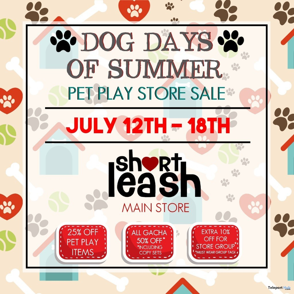 Dog Days of Summer Pet Play Store Sale Event 2019 - Teleport Hub - teleporthub.com