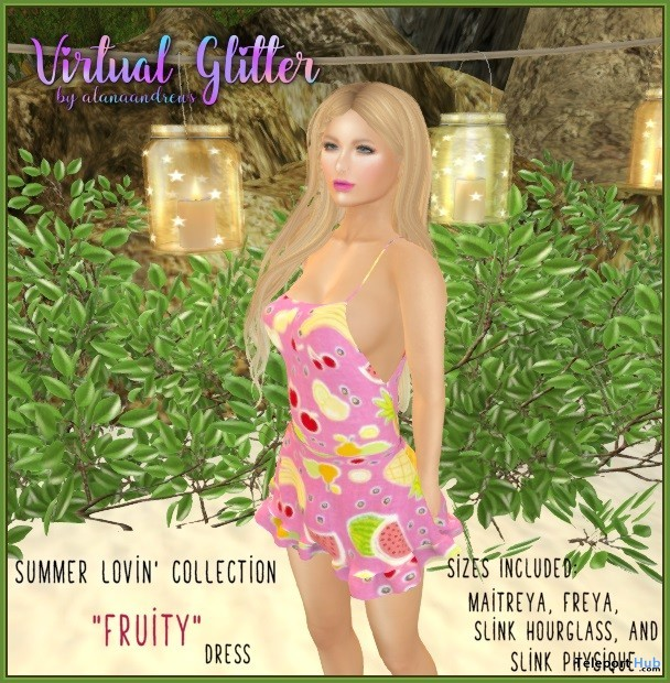 Halter Dress Fruity July 2019 Gift by Virtual Glitter - Teleport Hub - teleporthub.com