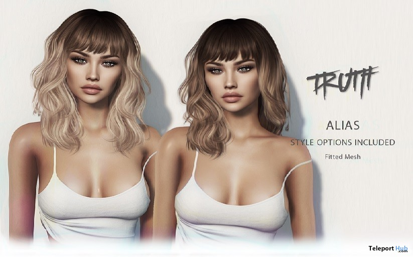 Alias Hair Fatpack With Style HUD Group Gift by TRUTH HAIR- Teleport Hub - teleporthub.com
