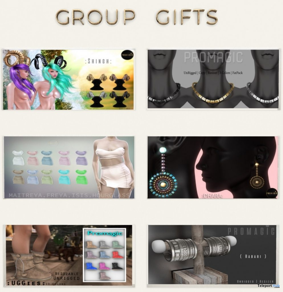 Outfit & Jewelries July 2019 Group Gift by PROMAGIC- Teleport Hub - teleporthub.com