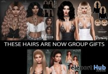 Rebecca, Dreamy, & Giselle Hair Fatpack July 2019 Group Gift by Sintiklia - Teleport Hub - teleporthub.com