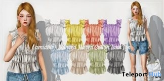 Shirred Flared Cotton Tank Top & Tired Summer Mini Dress 50% Off Promo by {amiable} @ ACCESS Event July 2019
