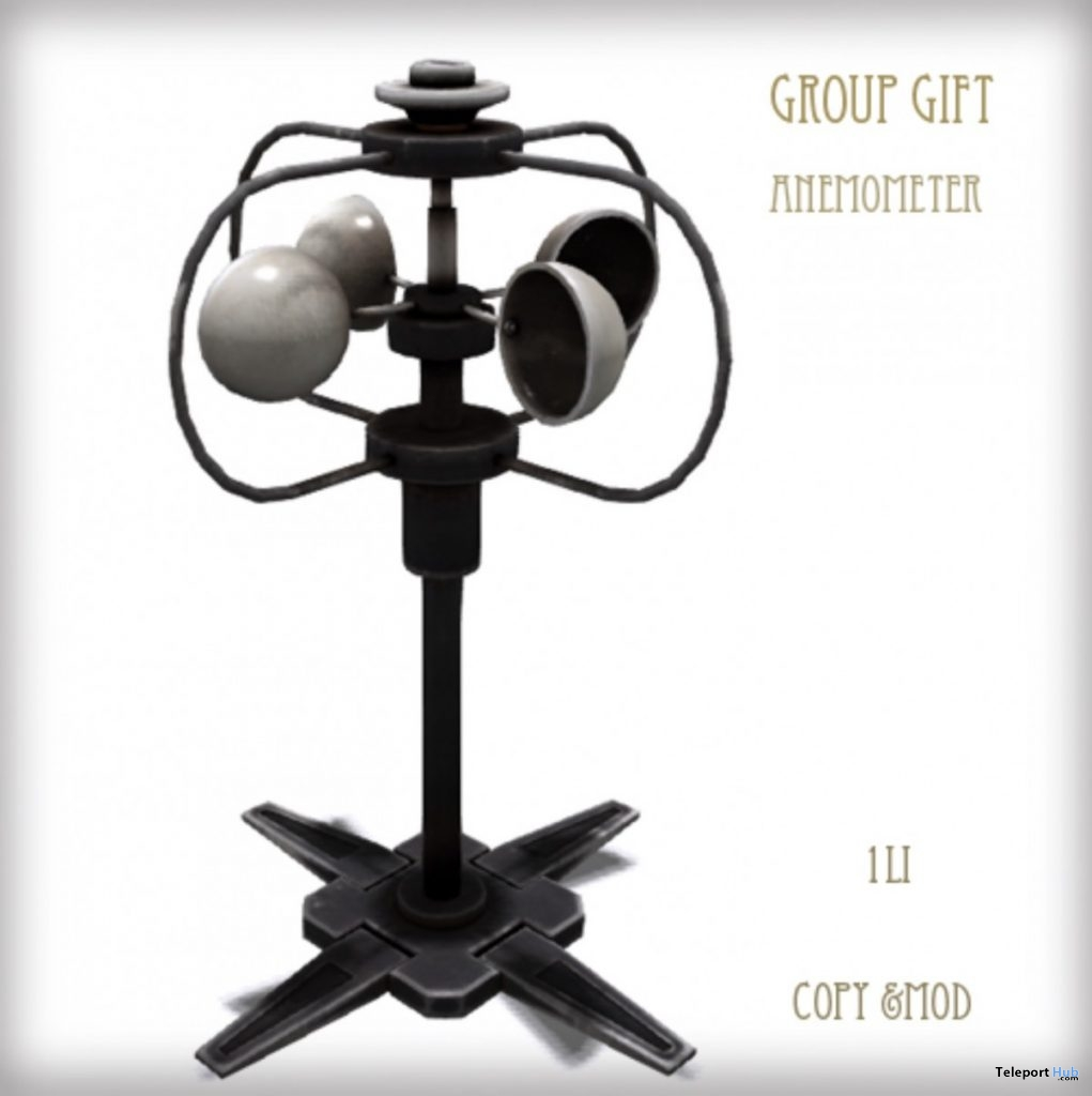 Anemometer July 2019 Group Gift by D-LAB- Teleport Hub - teleporthub.com
