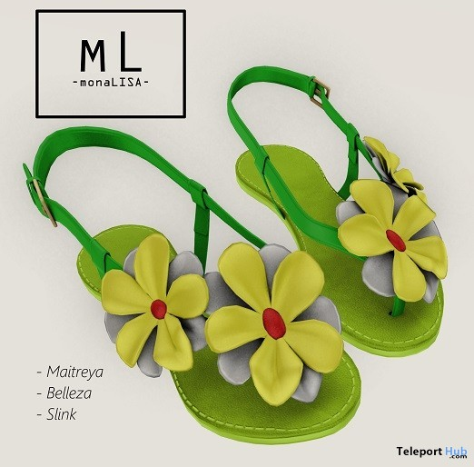 Cora Sandals July 2019 Group Gift by monaLISA - Teleport Hub - teleporthub.com