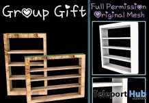 Full Perm Shelf #1 August 2019 Group Gift by Sherbert- Teleport Hub - teleporthub.com