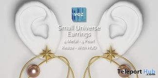 Small Universe Earrings August 2019 Group Gift by VO.Z- Teleport Hub - teleporthub.com