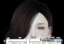 Chemical Formula Face Tattoo August 2019 Group Gift by ALICE - Teleport Hub - teleporthub.com