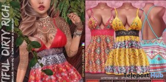 Sandara Dress Fatpack August 2019 Group Gift by Beautiful Dirty Rich - Teleport Hub - teleporthub.com