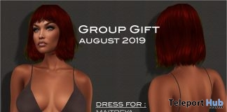Spaghetti Strap Dress August 2019 Group Gift by Selene Creations - Teleport Hub - teleporthub.com