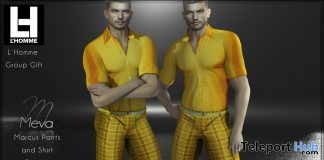 Marcus Outfit Set L'HOMME Magazine August 2019 Group Gift by Meva- Teleport Hub - teleporthub.com