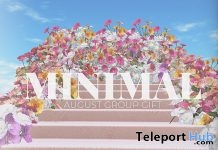 Floral Backdrop August 2019 Group Gift by MINIMAL- Teleport Hub - teleporthub.com