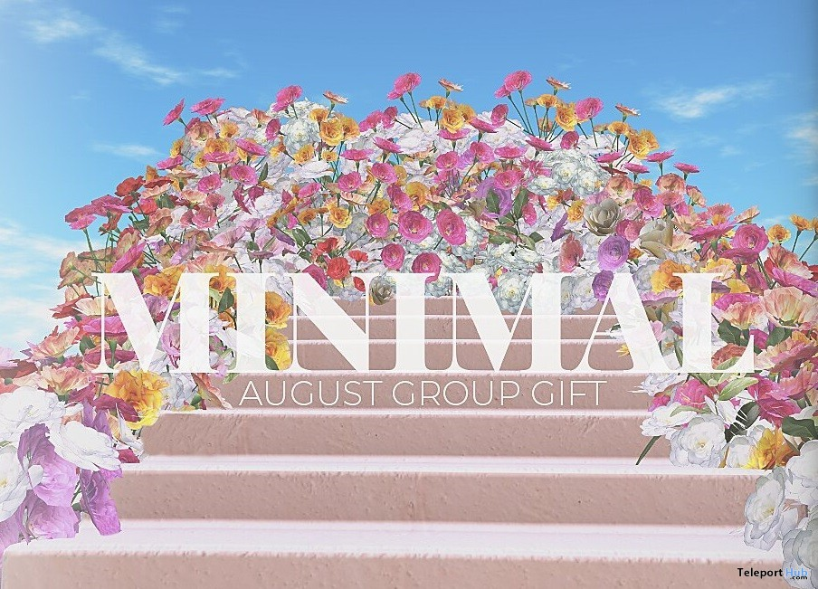 Floral Backdrop August 2019 Group Gift by MINIMAL - Teleport Hub - teleporthub.com