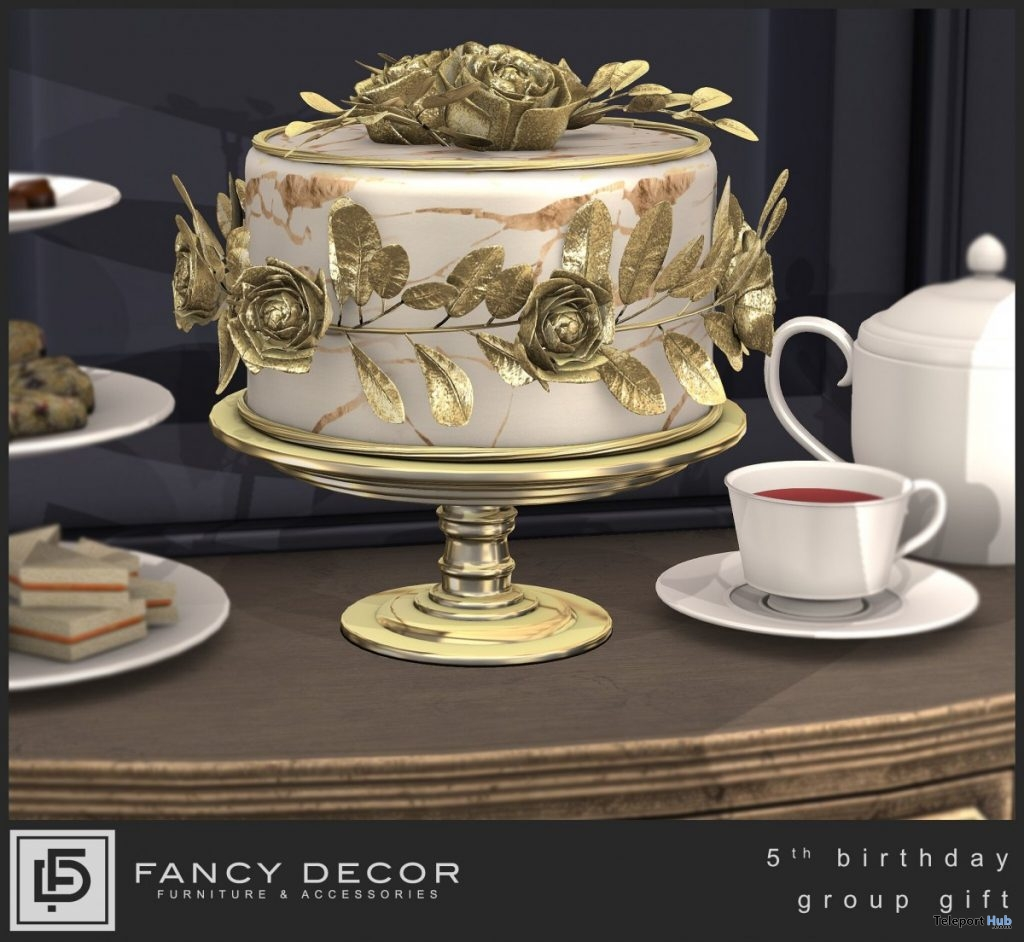5th Birthday Cake August 2019 Group Gift by Fancy Decor- Teleport Hub - teleporthub.com