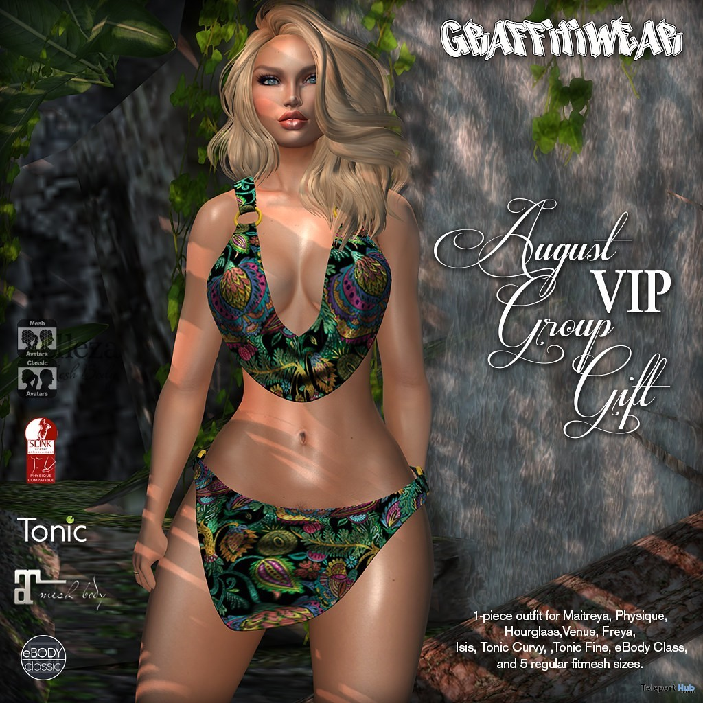 Swimsuit August 2019 Group Gift by Graffitiwear - Teleport Hub - teleporthub.com