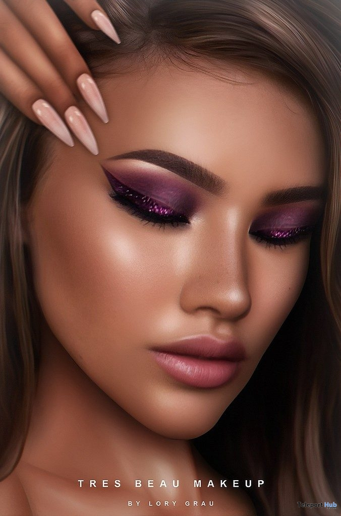 Eyeshadow Pack 001 For Genus Mesh Head August 2019 Group Gift by Tres Beau Makeup - Teleport Hub - teleporthub.com