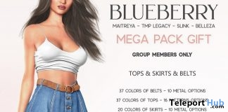 Tank Top & Denim Skirts Fatpack August 2019 Group Gift by Blueberry - Teleport Hub - teleporthub.com