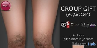 Dirty Knees In 3 Shades August 2019 Group Gift by Izzie's- Teleport Hub - teleporthub.com