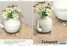 Daisy Tea Decor August 2019 Group Gift by Ariskea- Teleport Hub - teleporthub.com