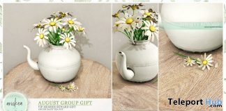 Daisy Tea Decor August 2019 Group Gift by Ariskea - Teleport Hub - teleporthub.com