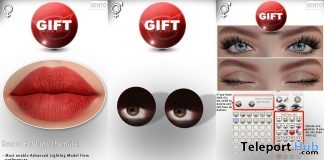 Bento HD Lips, Rigged Mesh Eyes, & Blinking Animation August 2019 Gift by CATWA - Teleport Hub - teleporthub.com
