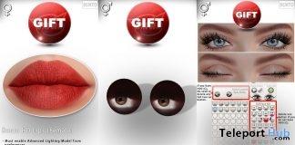 Bento HD Lips, Rigged Mesh Eyes, & Blinking Animation August 2019 Gift by CATWA- Teleport Hub - teleporthub.com