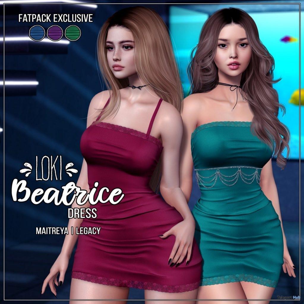 New Release: Beatrice Dress by Loki @ Shiny Shabby August 2019- Teleport Hub - teleporthub.com