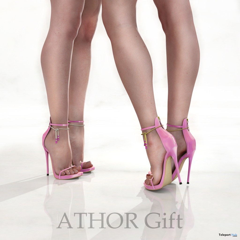 Barbara Shoes Pink August 2019 Group Gift by ATHOR - Teleport Hub - teleporthub.com