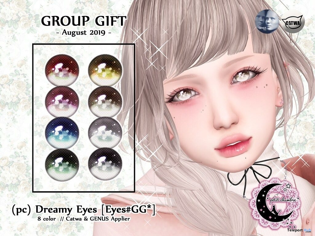 Dreamy Eyes August 2019 Group Gift by petit chambre - Teleport Hub - teleporthub.com