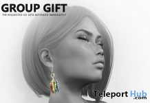 CAI Leaf Earrings August 2019 Group Gift by HEC- Teleport Hub - teleporthub.com
