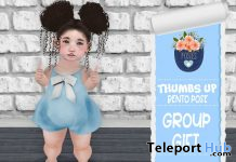 Thumb Up Bento Pose August 2019 Group Gift by Posies- Teleport Hub - teleporthub.com