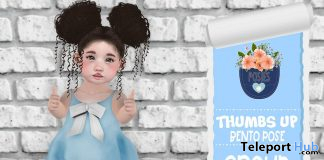 Thumb Up Bento Pose August 2019 Group Gift by Posies - Teleport Hub - teleporthub.com