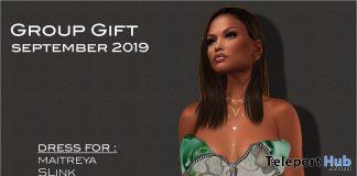 Zipped Mini Dress September 2019 Group Gift by Selene Creations- Teleport Hub - teleporthub.com