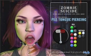 Pill Tongue Piercing September 2019 Group Gift by Zombie Suicide- Teleport Hub - teleporthub.com