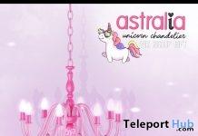 Unicorn Chandelier August 2019 Group Gift by Astralia- Teleport Hub - teleporthub.com