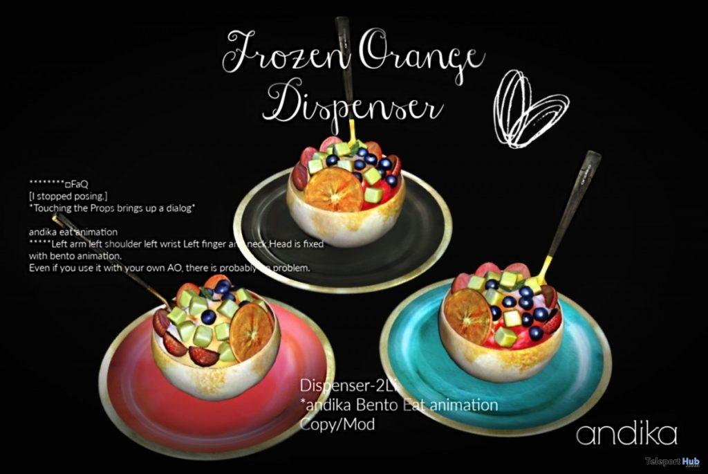 Frozen Orange Dispenser August 2019 Group Gift by Andika- Teleport Hub - teleporthub.com