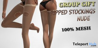 Ripped Mesh Stockings Nude Crotch High September 2019 Group Gift by Velvets Dreams - Teleport Hub - teleporthub.com