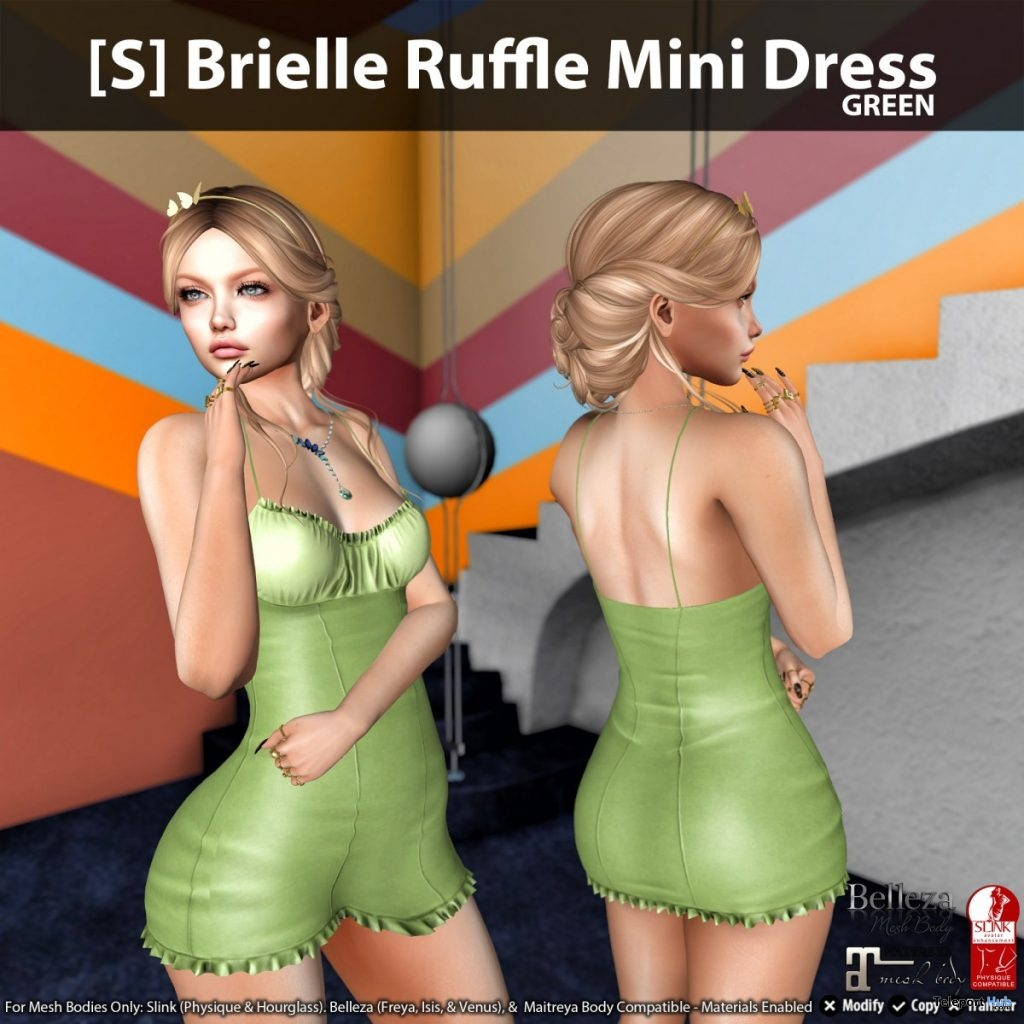 New Release: [S] Brielle Ruffle Mini Dress by [satus Inc] - Teleport Hub - teleporthub.com