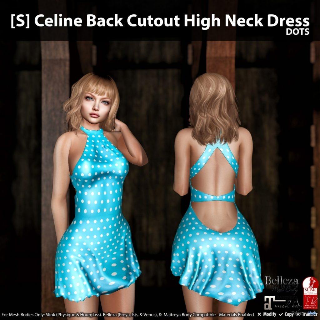New Release: [S] Celine Back Cutout High Neck Dress by [satus Inc] - Teleport Hub - teleporthub.com