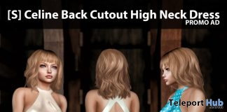 New Release: [S] Celine Back Cutout High Neck Dress by [satus Inc] - Teleport Hub - teleporthub.com