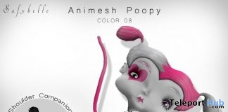Poopy Animesh Shoulder Doll August 2019 Group Gift by Safybelle - Teleport Hub - teleporthub.com