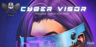 Cyber Visor L'HOMME Magazine August 2019 Group Gift by The Forge- Teleport Hub - teleporthub.com