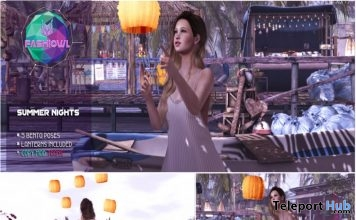 Summer Nights Pose Pack & Prop The Liaison Collaborative Event August 2019 Group Gift by Fashiowl Poses- Teleport Hub - teleporthub.com