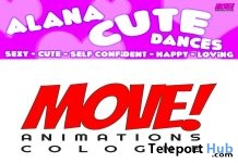 New Release: Alana Cute Bento Dance Pack by MOVE! Animations Cologne - Teleport Hub - teleporthub.com