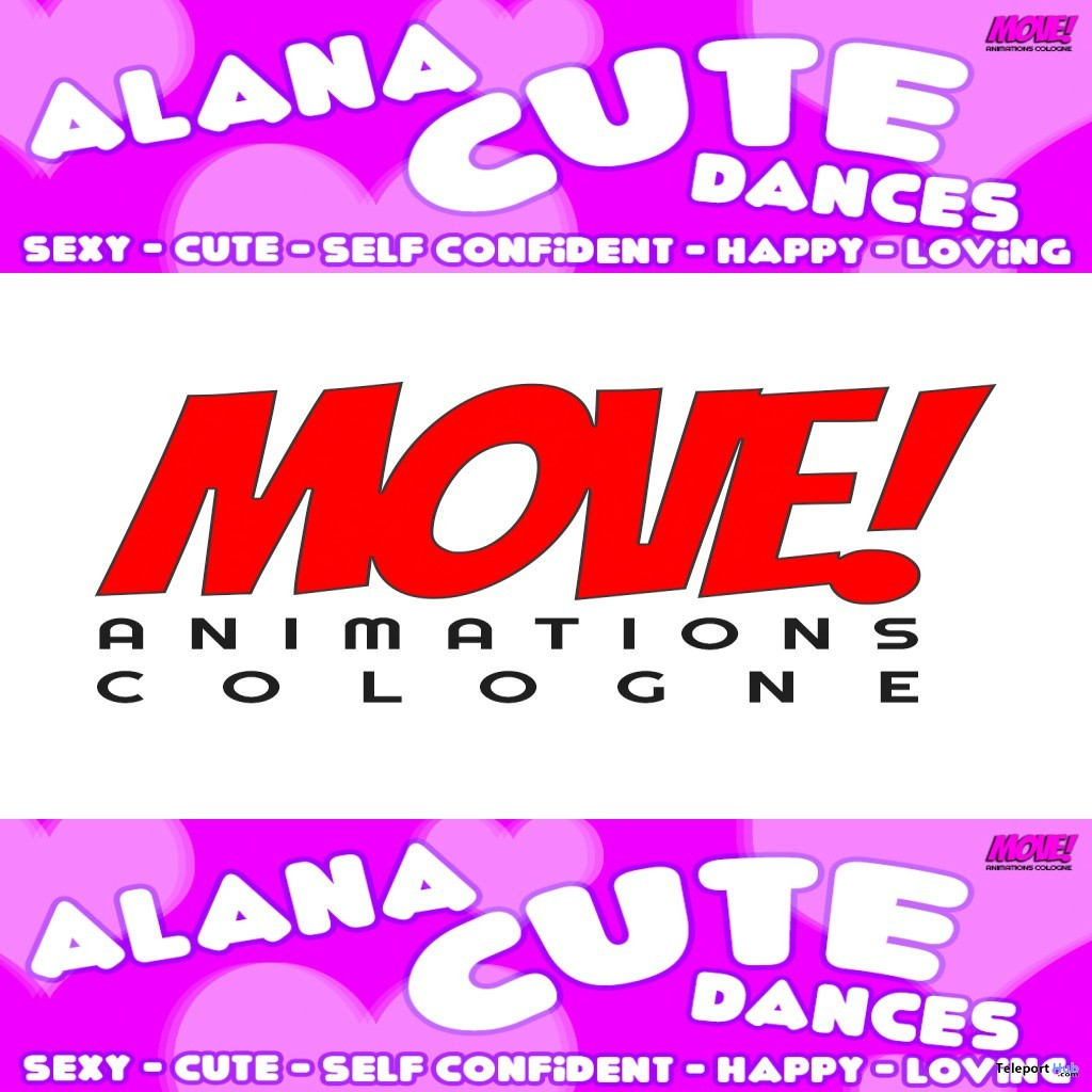 New Release: Alana Cute Bento Dance Pack by MOVE! Animations Cologne- Teleport Hub - teleporthub.com